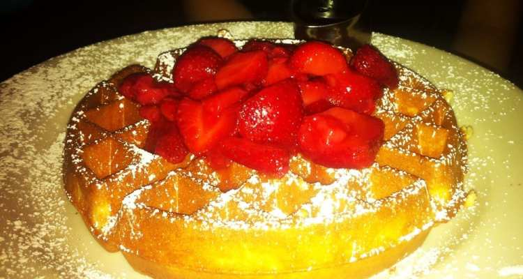 Waffle from Grand Lux Cafe