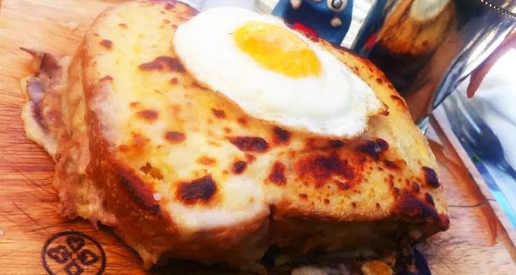 Croque Madame Sandwich from Luke San Antonio Texas