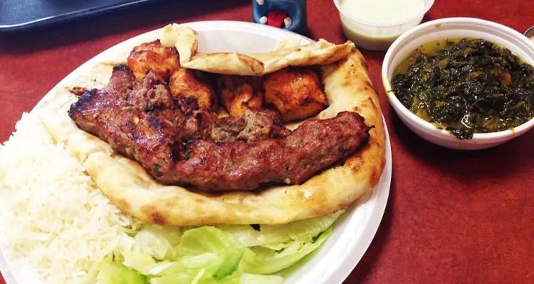 Lamb & Chicken Kabob Combo @ Charcoal Kabob