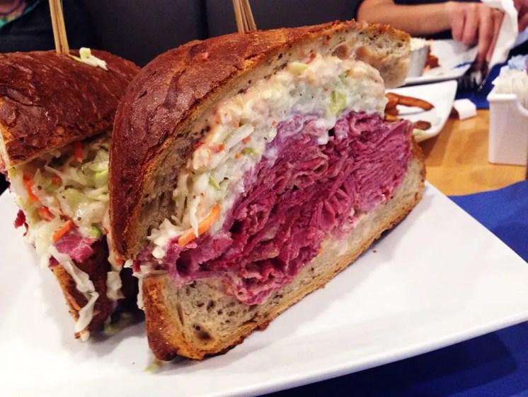 1.5 Pound Corned Beef Sandwich @ Heckman's Deli Bethesda