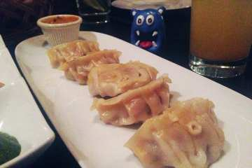 Chicken Momo Dumplings $7 @ Le Mirch Dupont Circle