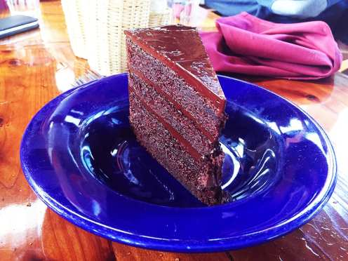 Four Layer Chocolate Fudge Cake $10 @ Nepenthe Big Sur CA