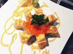 Orange Blossom Sushi Roll $13 @ Cho Oishi Los Angeles California