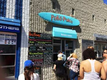 Poke Poke Menu Venice Beach California
