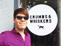 Boris at Crumbs & Whiskers Cat Cafe
