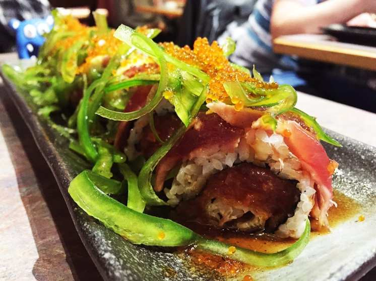 Black Tiger Sushi Roll $12 @ Sushi Plus in Redwood City California