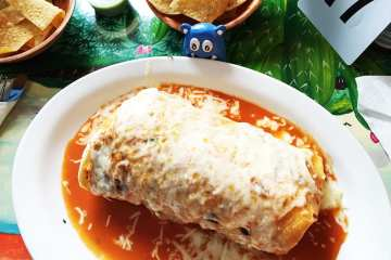 Wet Chicken Burrito @ Taqueria El Metate in Redwood City California