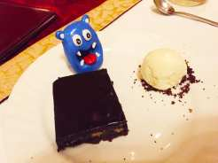 Brownie Cake from Le Jordin Oberoi Hotel in Bangalore India