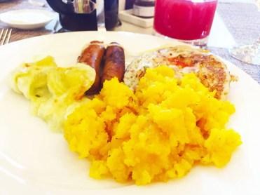 Kesari Bhaat @ Le Jardin Breakfast Buffet at Oberoi Hotel in Bangalore India