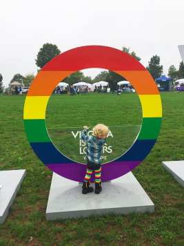 Cute Little Boy at NOVA Gay Pride (picture by @DCHomost)