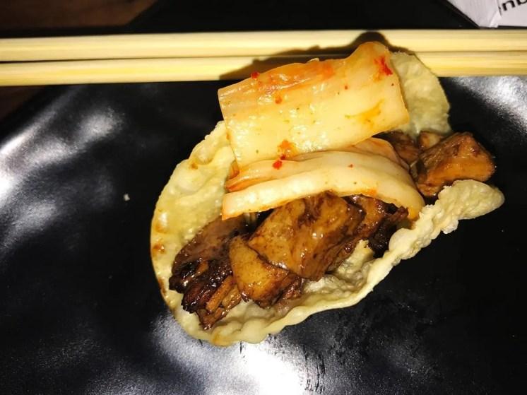 Pork Chashu Kimchee Tacos @ Jinya Ramen in Logan Circle Grand Opening