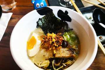 Jinya Tonkotsu Black Ramen @ Jinya Pike & Rose Rockville