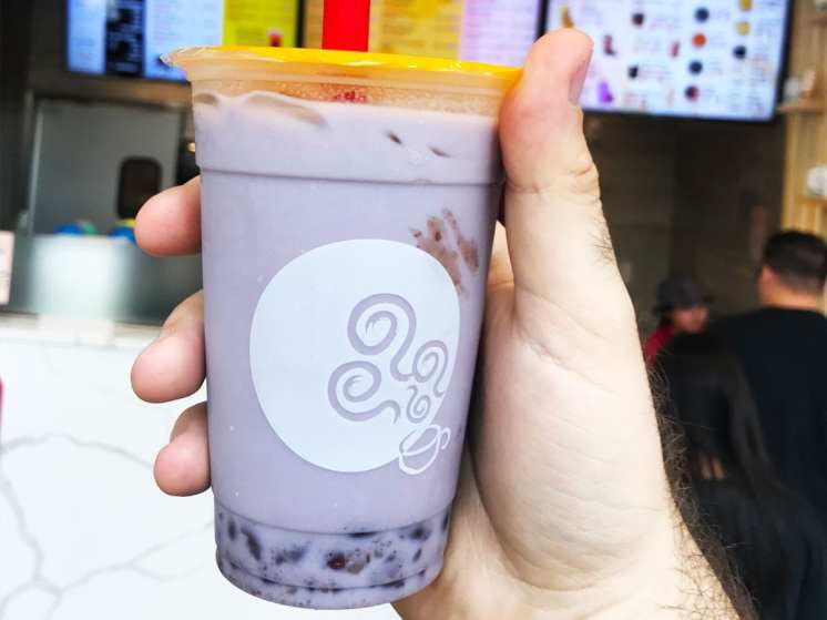 Taro Bubble Tea from Gongcha