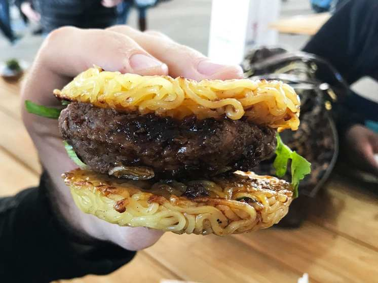 Ramen Burger from Ramen Burger by Keizo Shimamoto at Emporiyum 2018
