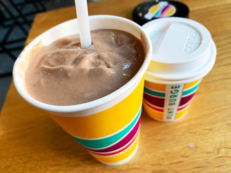 Chocolate Oataty Vegan Milkshake at PLNT Burger