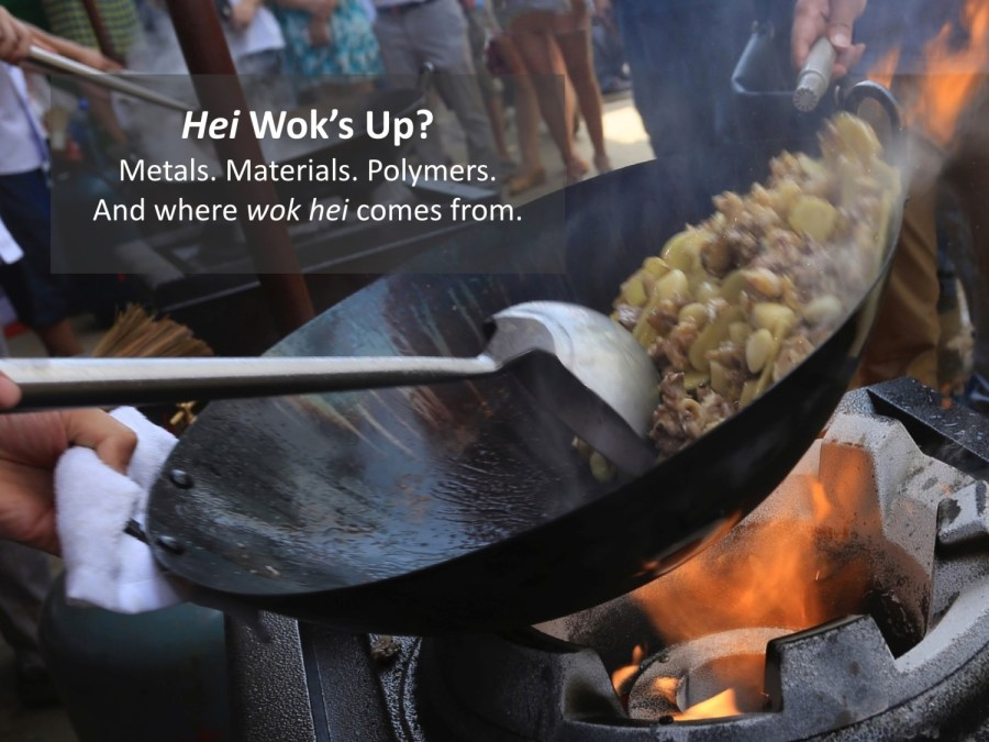"Cooking with a wok gives wok hei (""breath of a wok"")"