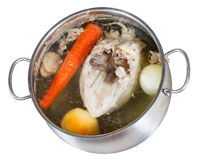 Conduction and convection - boiling chicken in a pot