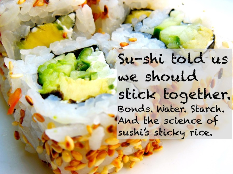 science of sticky rice in sushi