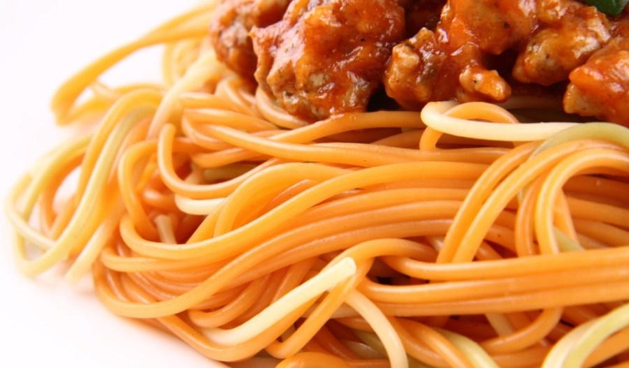 gelatin strands like tangled noodles/spaghetti