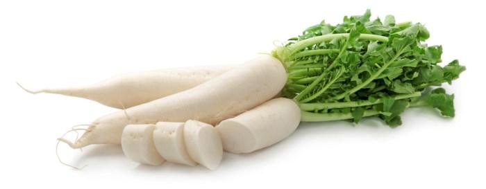 chai tow kway are stir-fried cubes of daikon i.e. white radish, white flour and water