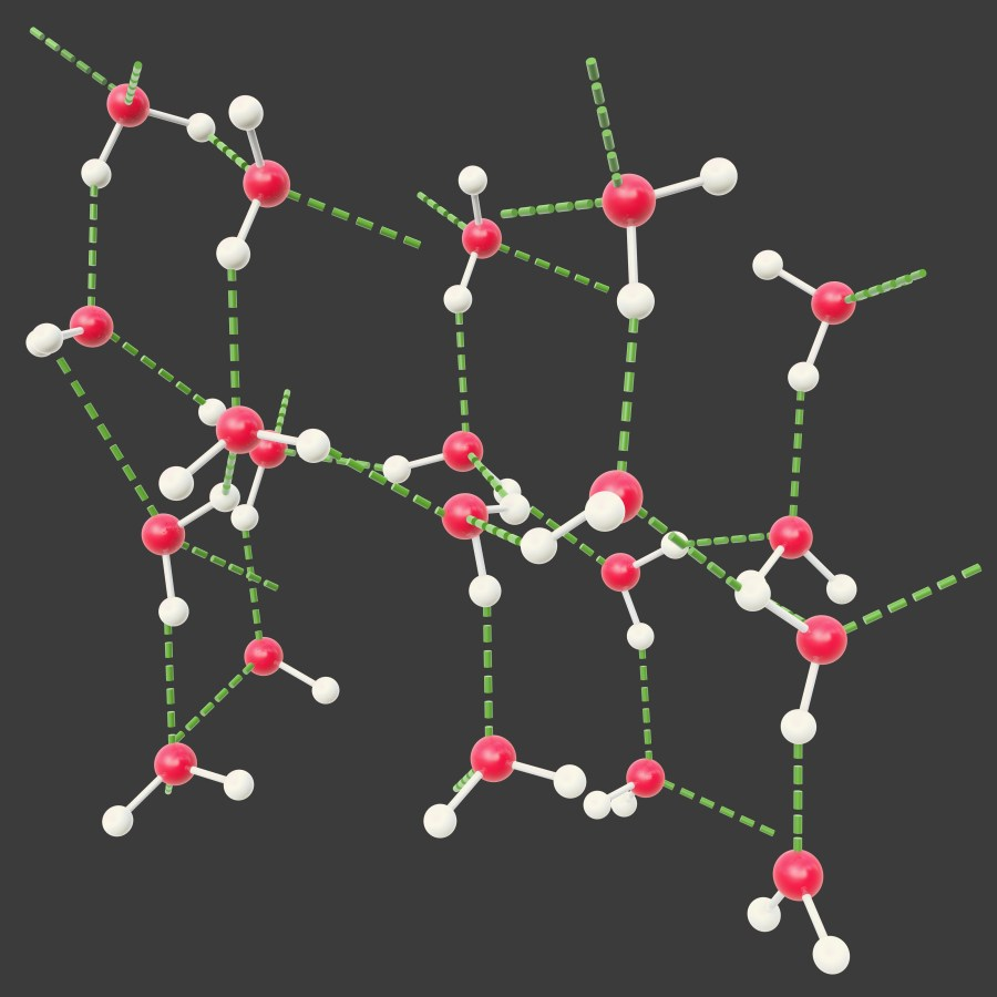 sucrose molecules have a somewhat open latticework