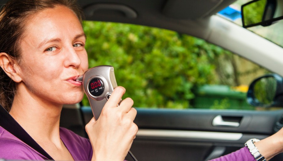 blowing into breathalyzers