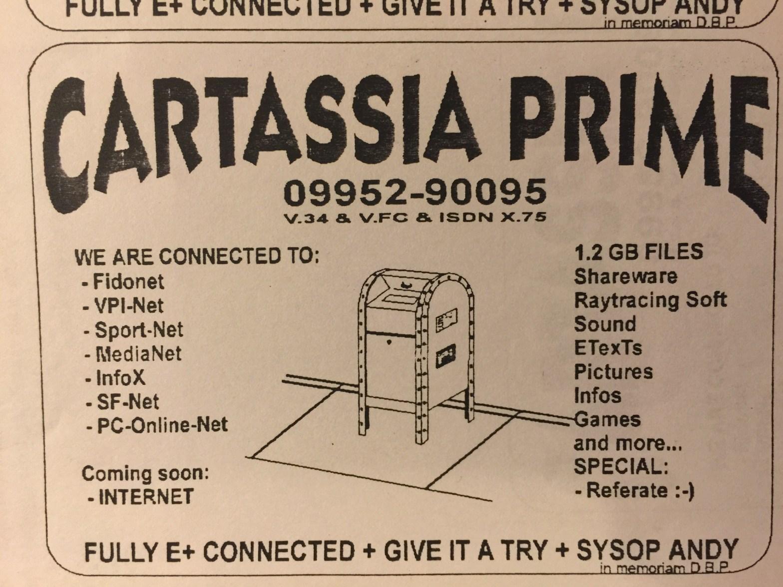 """#BBS Ad for Mailbox """"Cartassia Prime"""""""