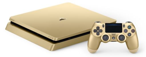 1 TB Gold Sony PS4 Console Bundle with Controller