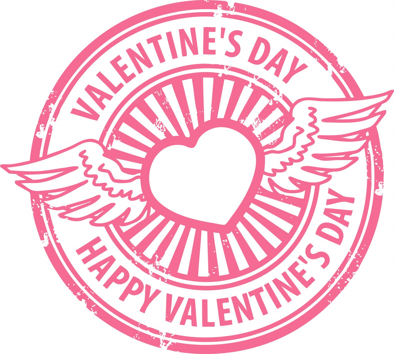 heart rubber wings Happy Valentines Day Sweet Decedent Happy Valentine