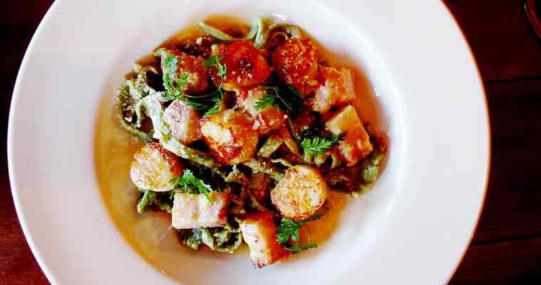 Good Wolfe Kitchen & Bar Vancouver Yaletown   Scallop Carbonara x Calamari