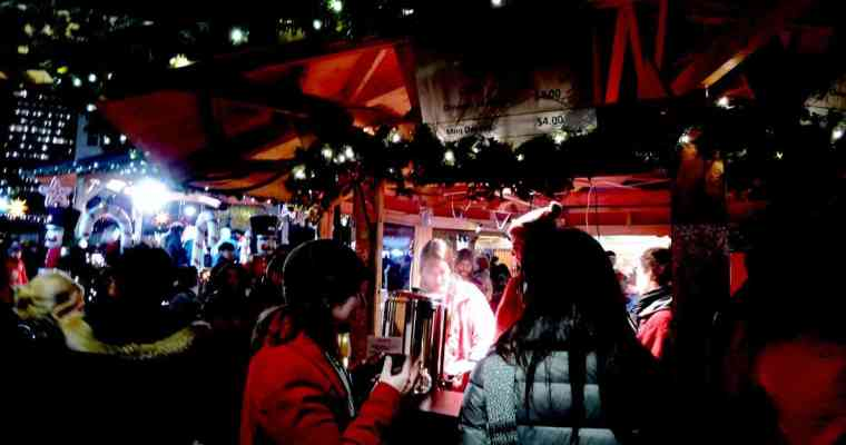 Vancouver Christmas Market 2014   Mulled Wine and Crafts