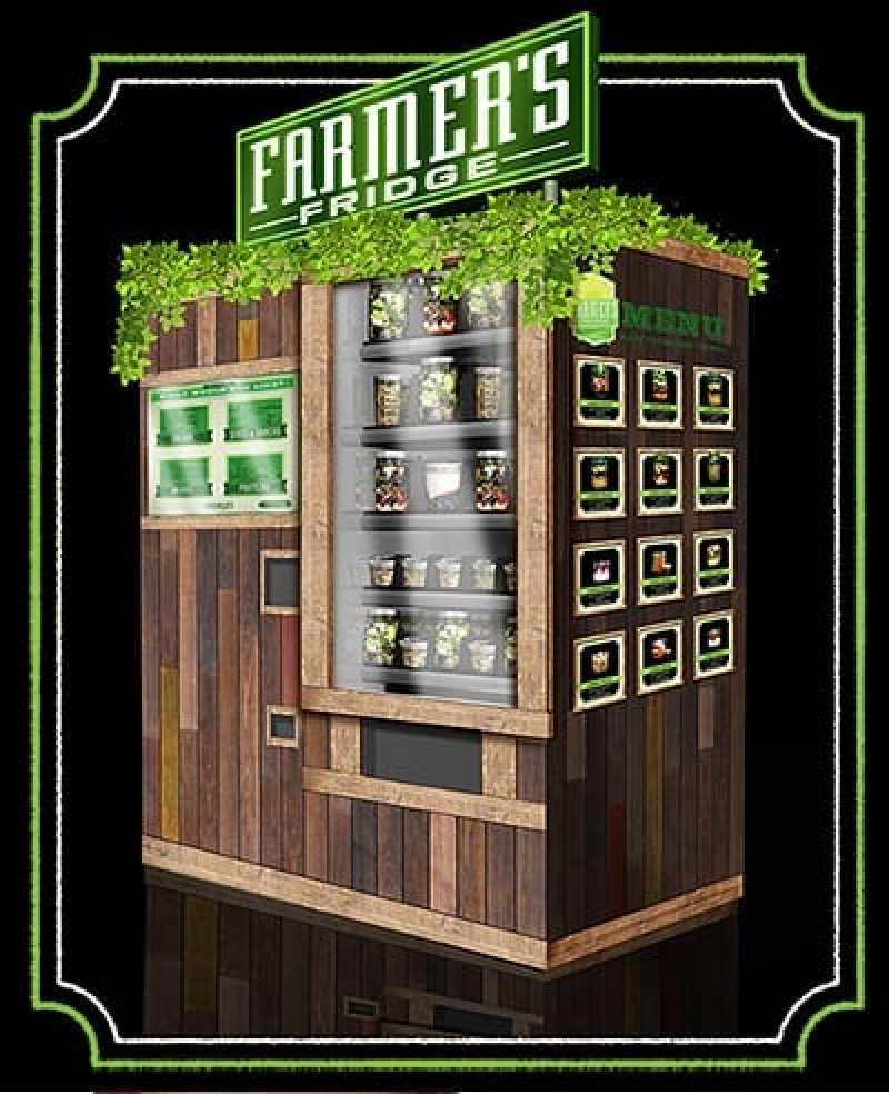Farmer's Fridge Chicago Fresh Salad Vending Machine