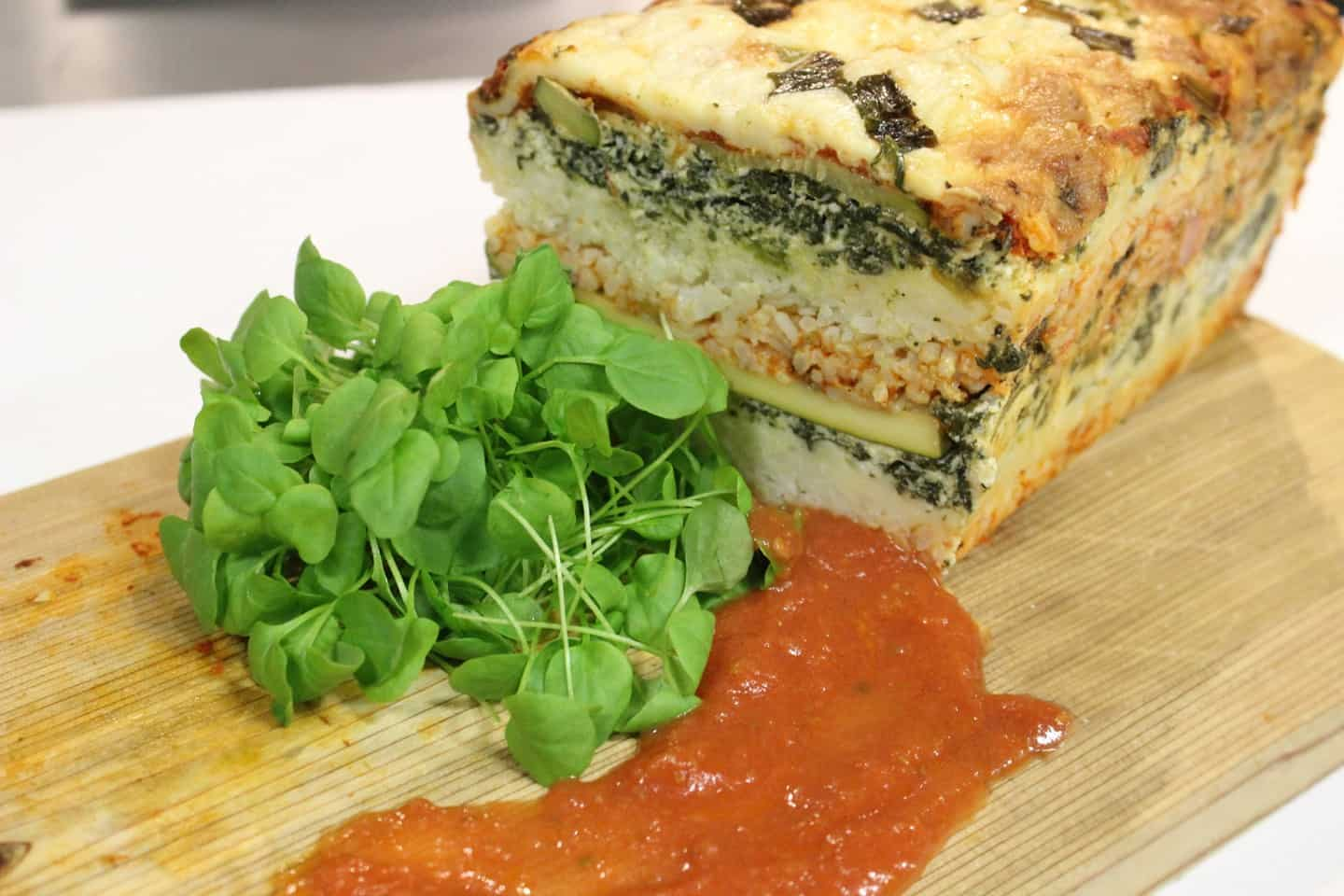 Veggie Rice Lasagna Loaf Recipe Chef John Higgins
