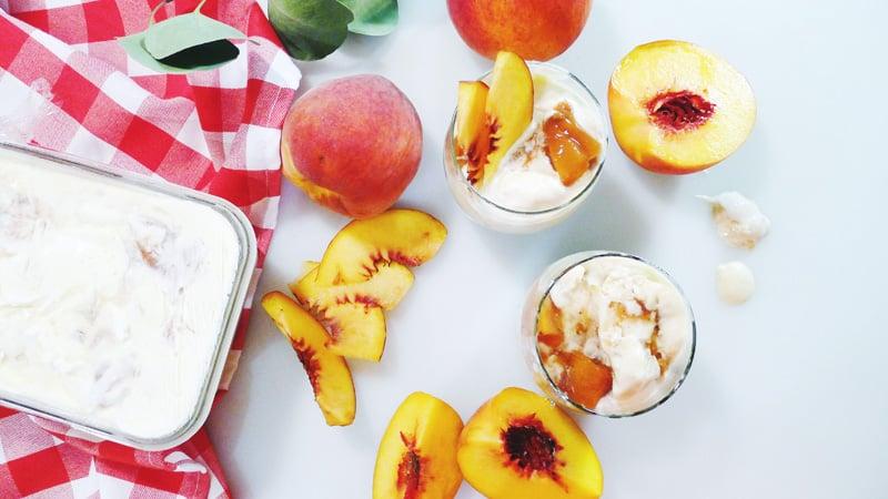 Summer Roasted Peach Ice Cream Recipe