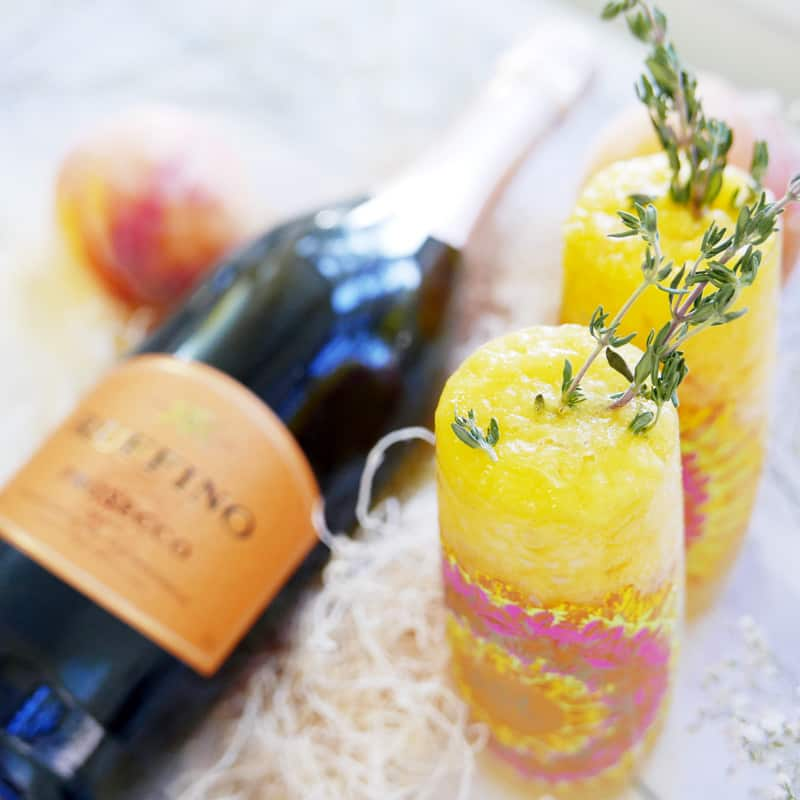 Peach Thyme Bellini Recipe | Summer Cocktail