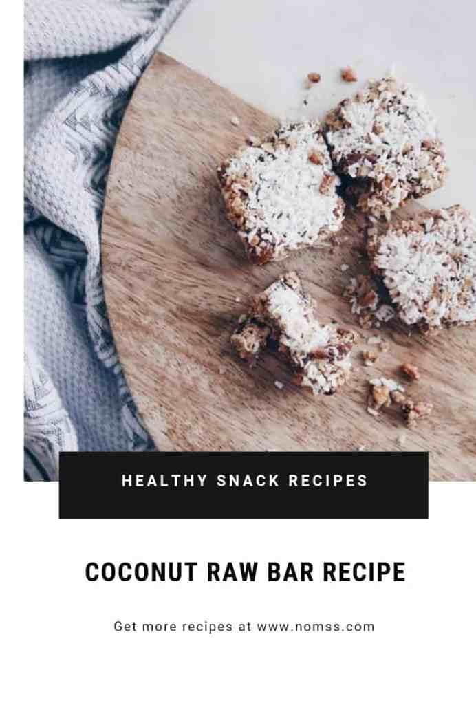 The BEST coconut RAW BAR RECIPE | Vegan Gluten free GRANOLA RAW BAR RECIPE SONGOFSTYLE NOMSS.COM FOOD BLOG