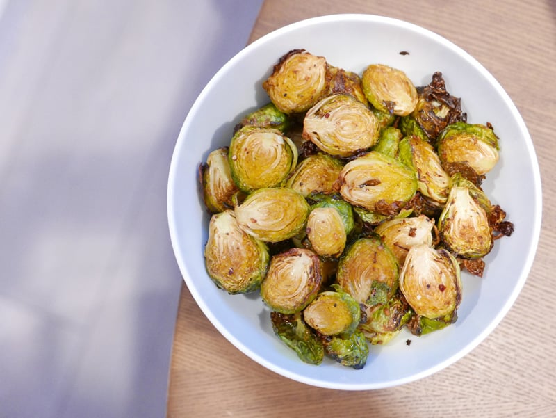 ACTIFRY BRUSSEL SPROUTS WITH GARLIC CHILI RECIPE