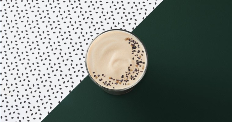 NEW TEAVANA BLACK SESAME TEA LATTE EXCLUSIVELY IN STARBUCKS CANADA