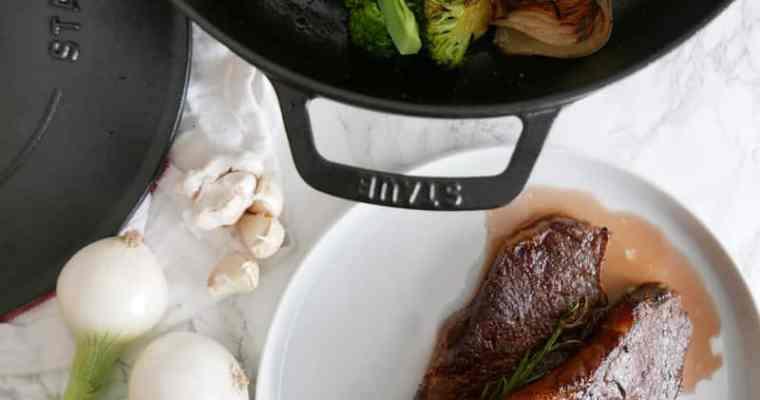 Best Reverse Sear Steak | Staub Cast Iron Braiser Giveaway