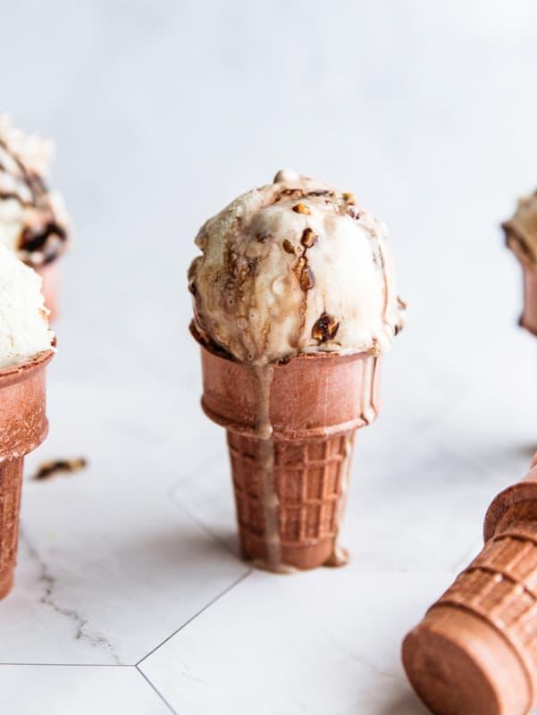 Hojicha Oat Milk Ice Cream Recipe | No-Churn, Egg Free, Dairy Free