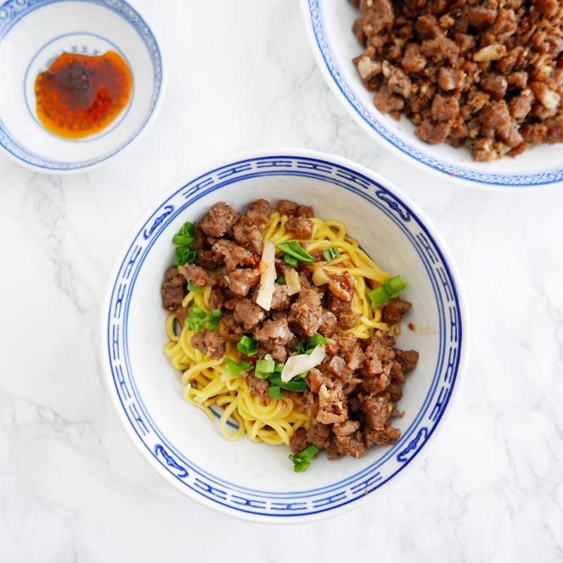 vegan dan dan noodles