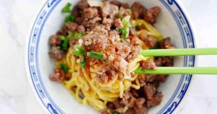 Vegan Dan Dan Noodles 四川擔擔麵 (No Pork & Beyond Meat)