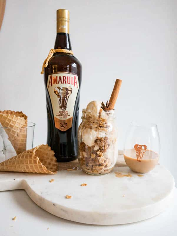 Amarula Cream Spiked Chai Spiced Ice Cream Parfait