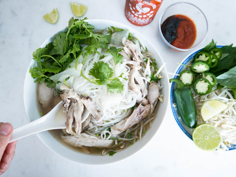 Easy to make Instant Pot Turkey Pho Noodle Recipe. IT'S THE COZIEST TIME OF YEAR AND YOU'RE JUST 30 MINS AWAY FROM A BOWL OF HEALTHY, AROMATIC, AUTHENTIC TURKEY PHO NOODLES! Nomss.com #turkeyrecipes #instantpotrecipes #phonoodles #phorecipes #vietnameserecipes #instanomss