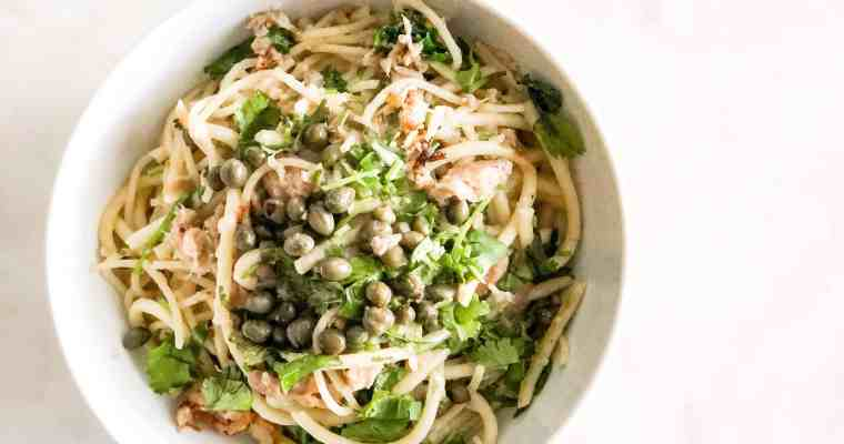 GARLIC BUTTER CANNED TUNA PASTA | 15 MINS PANTRY MEAL