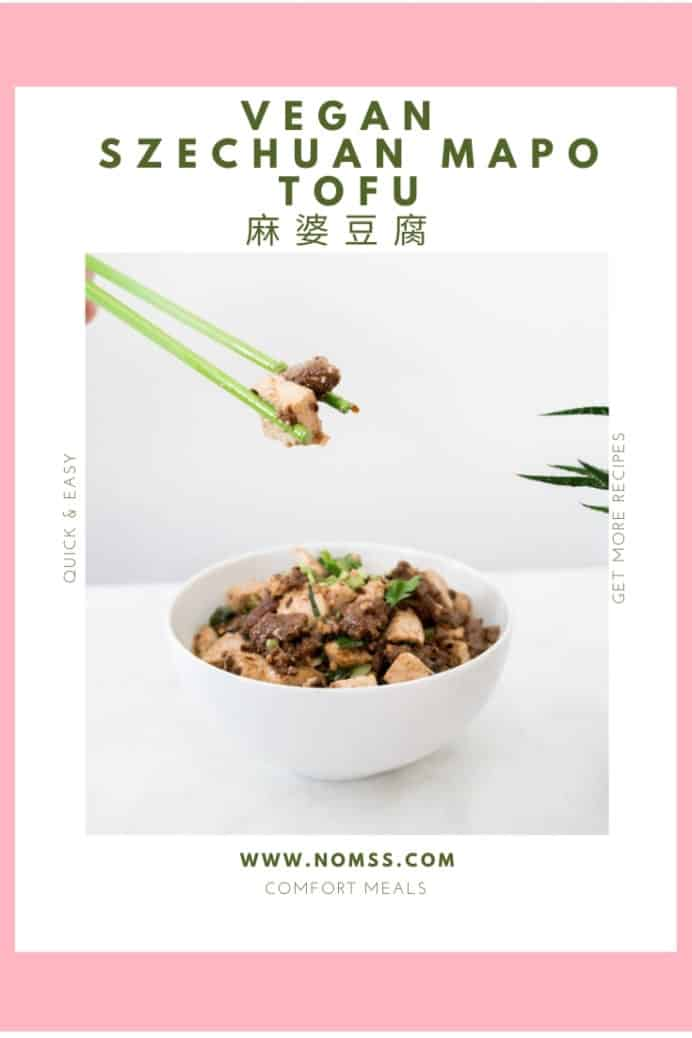 Szechuan Vegan Mapo Tofu 麻婆豆腐 is a classic home cooked Chinese Cantonese dish. I used Impossible Foods plant based patty for a healthier vegetarian mapo tofu version. Quick easy recipe in 15 minutes Chinese recipe! #Veganrecipes #MapoTofu #麻婆豆腐 #chineserecipes #cantoneserecipes #instanomss #szechuanfood #chinesefood #easychinese