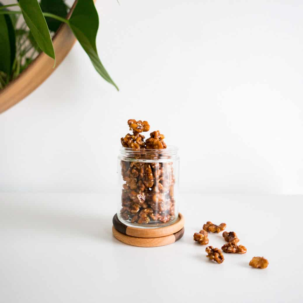 GINGERBREAD COOKIE CANDIED WALNUTS