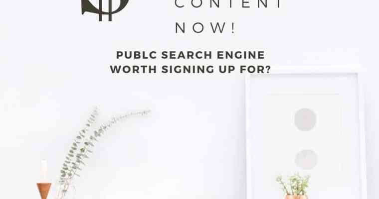 Is PUBLC Search Engine Worth Signing Up For?
