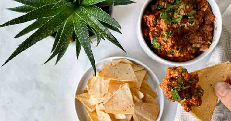 PLANT-BASED CHILI CON QUESO 'MEXICAN CHEESE DIP'