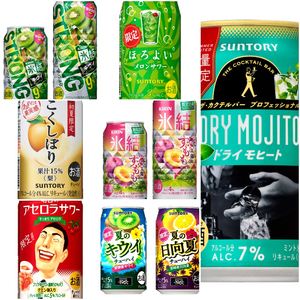 Chuhai Watch: Pear, sumomo, kiwi, acerola, and melon soda